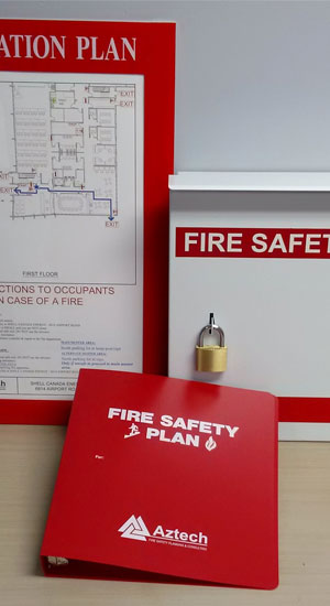 Example of a fire safety plan.
